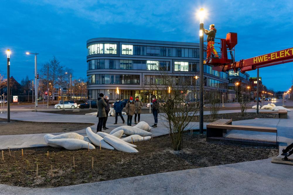 , Vorplatz iDiv in Leipzig - Lichtprobe
