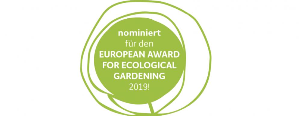 , European Award for Ecological Gardening 2019